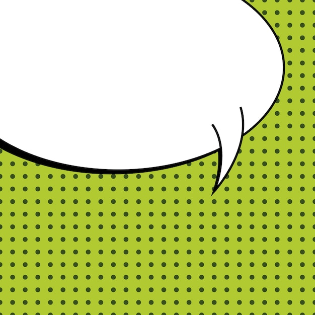 Fond de bulle de discours vide de style bande dessinée pop art. Vecteur Premium