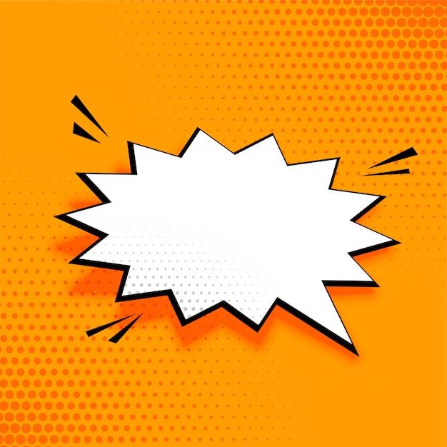Fond de bulle vide discours comique Vecteur gratuit