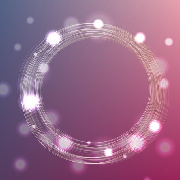 Fond de cadre de cercle avec bokeh Vecteur Premium
