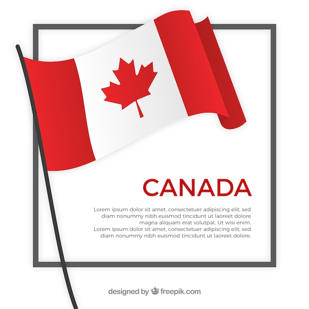 Fond de cadre de drapeau canada Vecteur gratuit