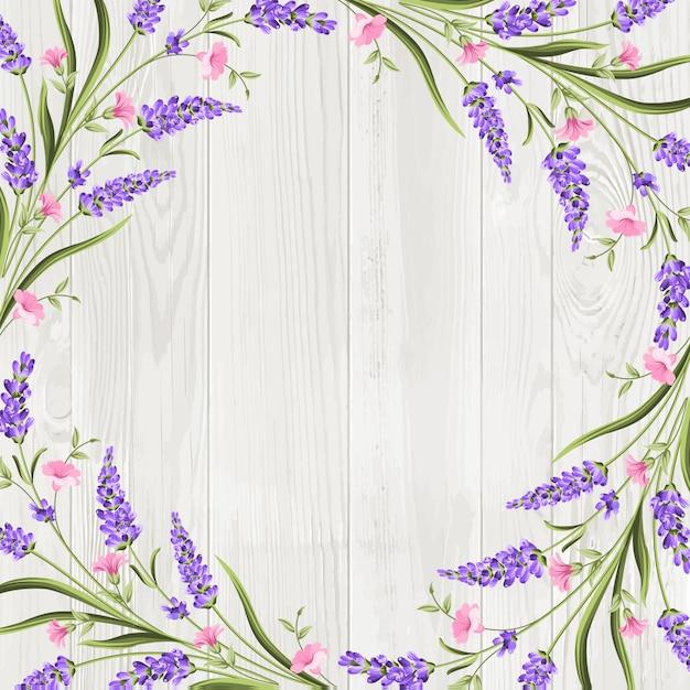 Fond de cadre de guirlande de fleurs d'été Vecteur Premium