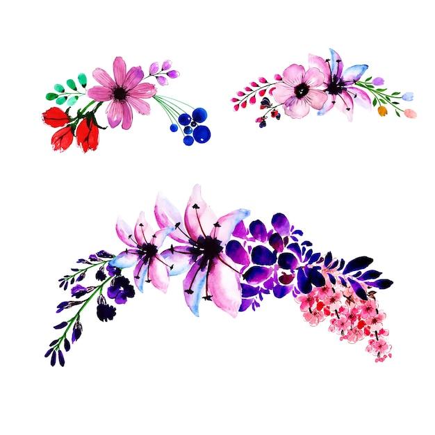 Fond De Cadre De Guirlande Florale Printemps Aquarelle Vecteur gratuit