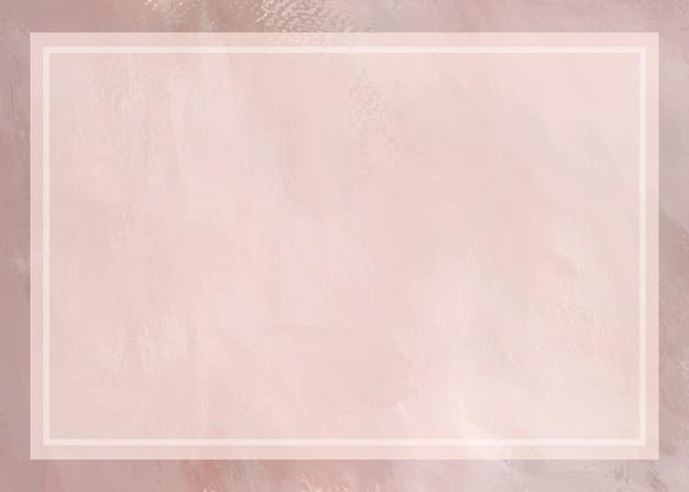 Fond de cadre peint rose tendre Vecteur gratuit