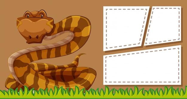 Fond de cadre de serpent brun Vecteur gratuit