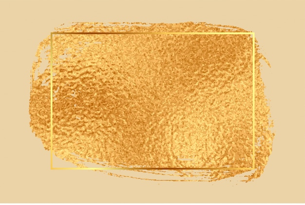 Fond De Cadre Vide Texture Feuille D'or Brillant Vecteur gratuit