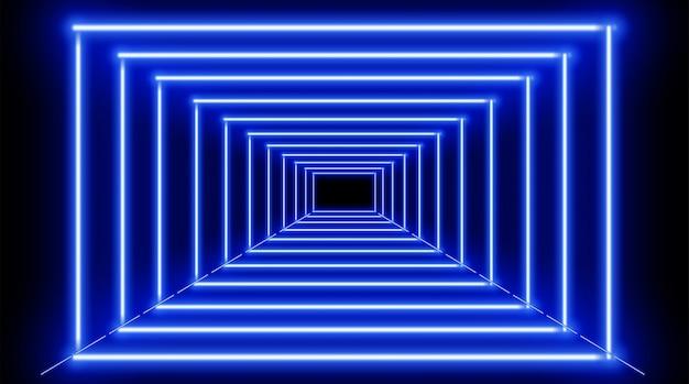Fond De Cadres Bleu Néon Vecteur Premium