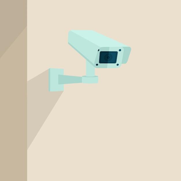 Fond de caméra de sécurité Vecteur gratuit