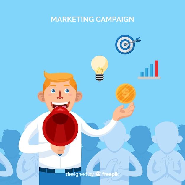 Fond de campagne marketing homme Vecteur gratuit