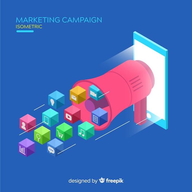 Fond de campagne marketing isométrique Vecteur gratuit