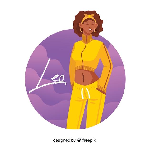 Fond de caractère du zodiaque dessiné à la main Vecteur gratuit