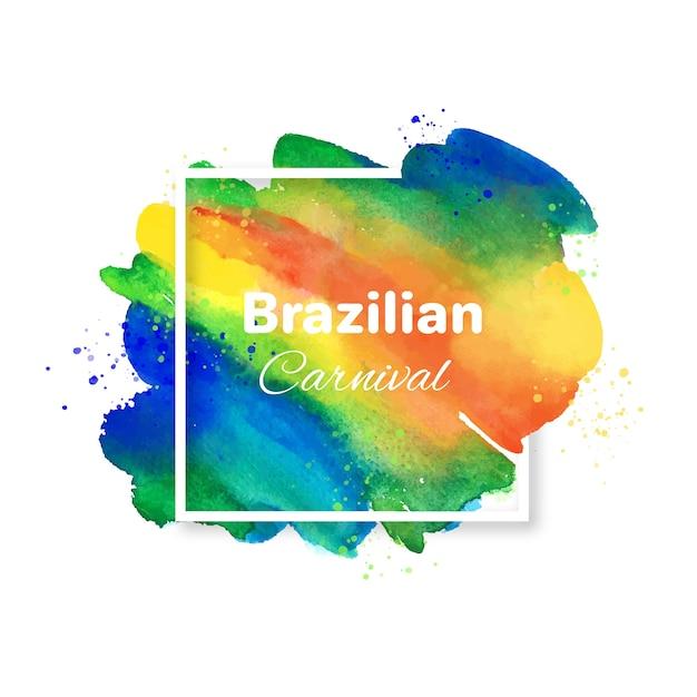 Fond De Carnaval Brésilien Et Tache Colorée Vecteur gratuit
