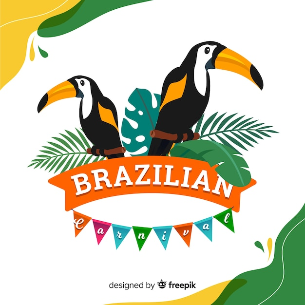 Fond de carnaval brésilien Vecteur gratuit