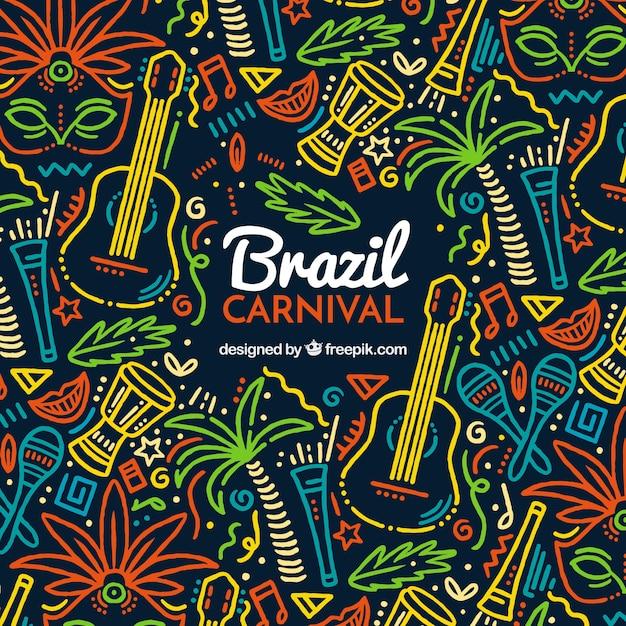 Fond De Carnaval Créatif Coloré Vecteur gratuit