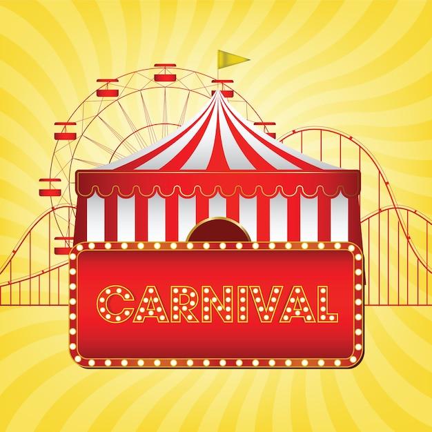 Le fond de carnaval funfair Vecteur Premium