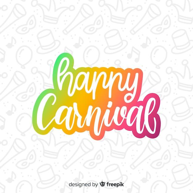 Fond de carnaval de texte dégradé Vecteur gratuit