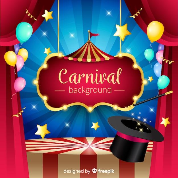 Fond de carnaval Vecteur gratuit