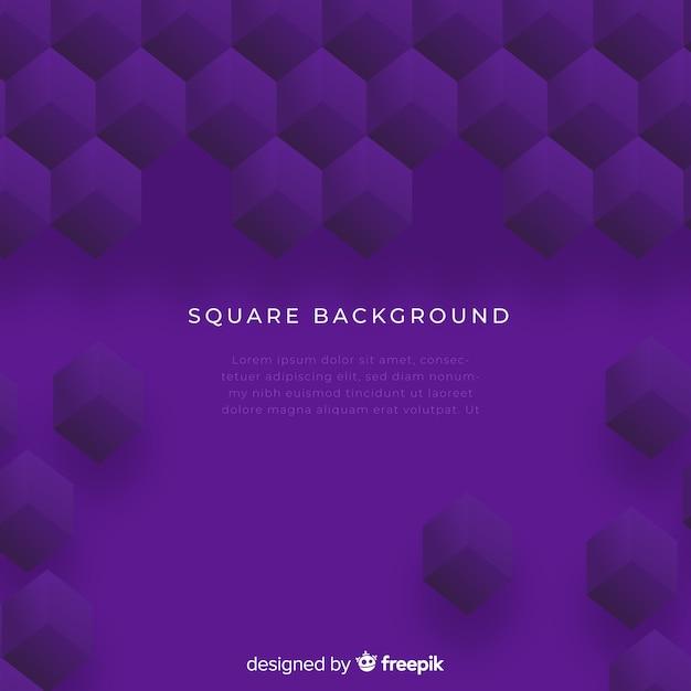 Fond carré Vecteur gratuit