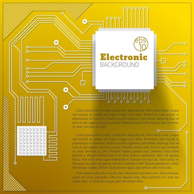 Fond De Carte électrique Jaune Avec Champ De Texte Vecteur gratuit