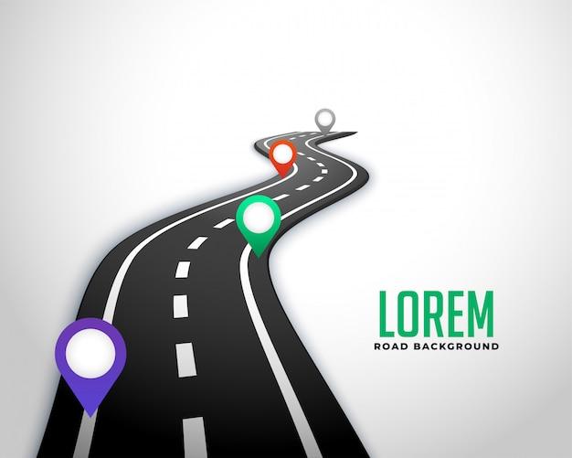 Fond De Carte De Route Route D'affaires Vecteur gratuit