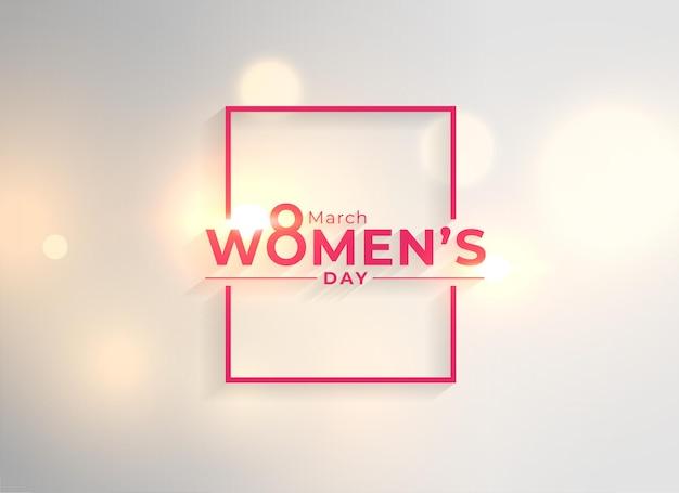 Fond De Carte De Souhaits De Fête Des Femmes Heureux Créative Vecteur gratuit