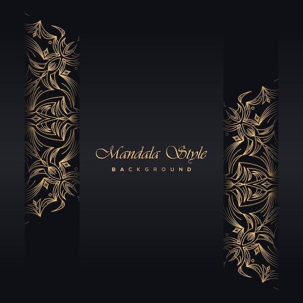 Fond de carte de souhaits vintage or noir Vecteur Premium