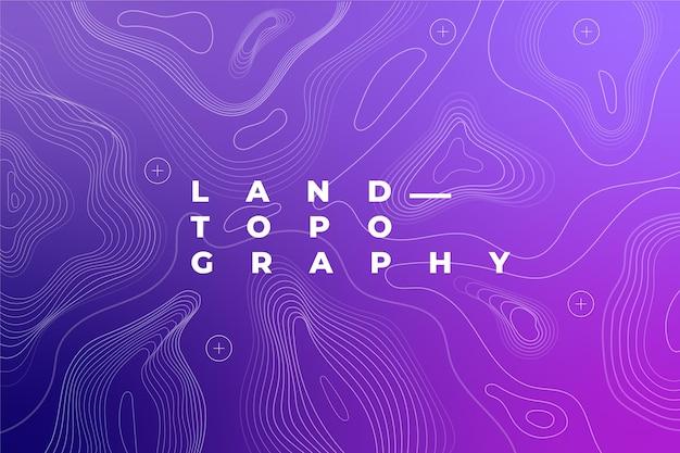 Fond De Carte Topographique Vecteur Premium
