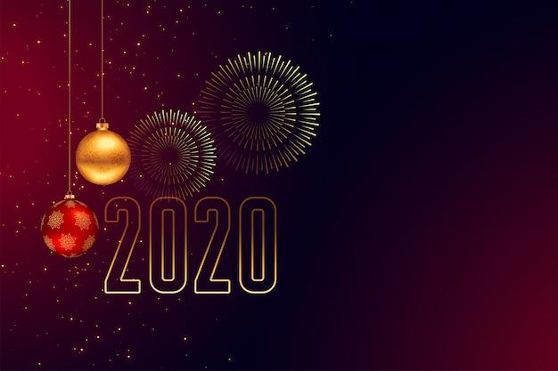 Fond de carte de voeux de bonne année fête Vecteur gratuit
