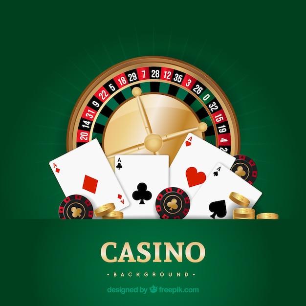 Fond de casino vert Vecteur gratuit