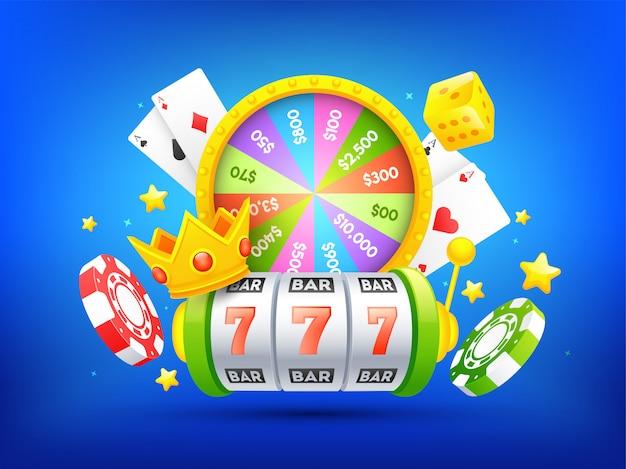 Fond de casino. Vecteur Premium