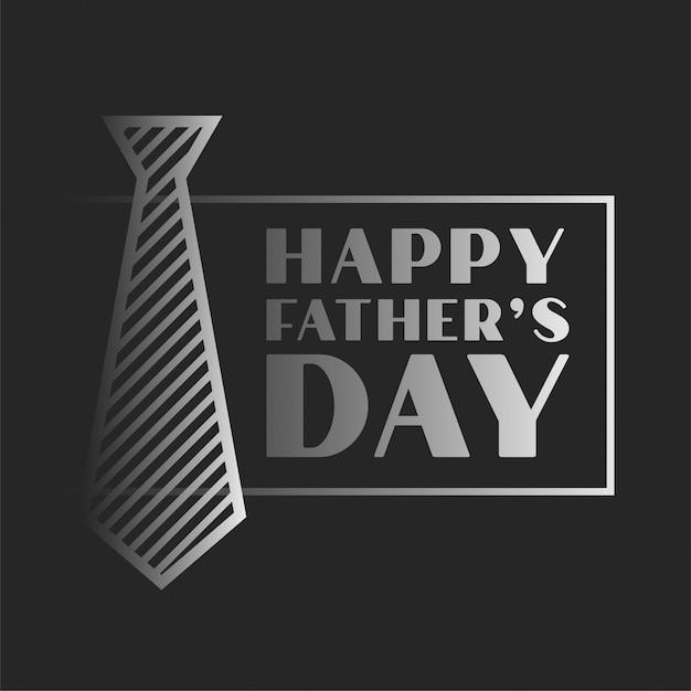 Fond De Célébration De La Fête Des Pères Heureux Dans Le Thème Sombre Vecteur gratuit