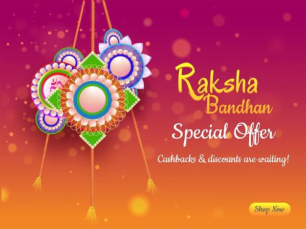 Fond de célébration heureux raksha bandhan. Vecteur Premium