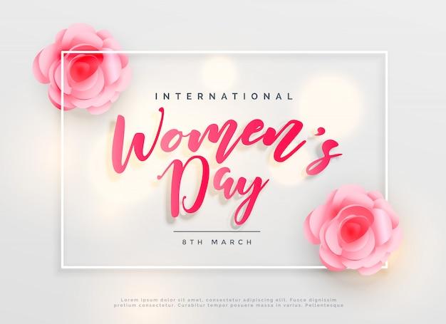 Fond de célébration internationale belle journée de femmes heureux Vecteur gratuit