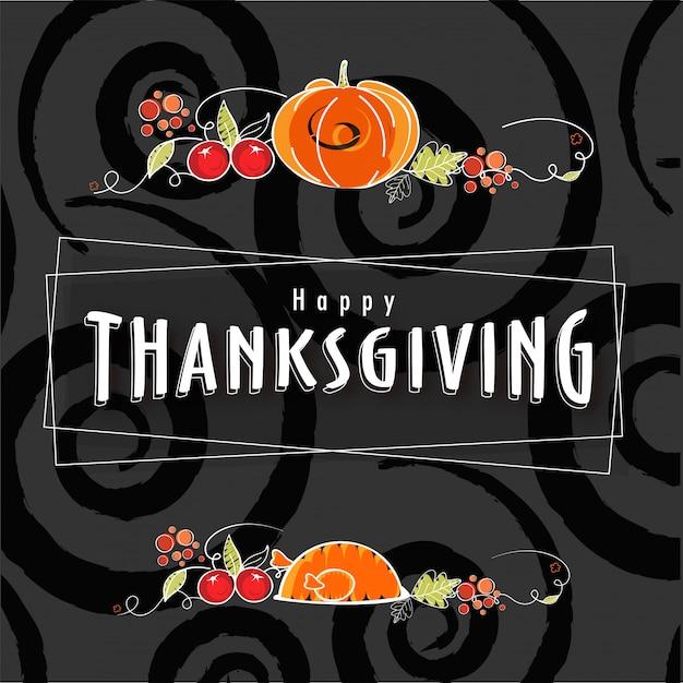Fond de célébration de thanksgiving. Vecteur Premium