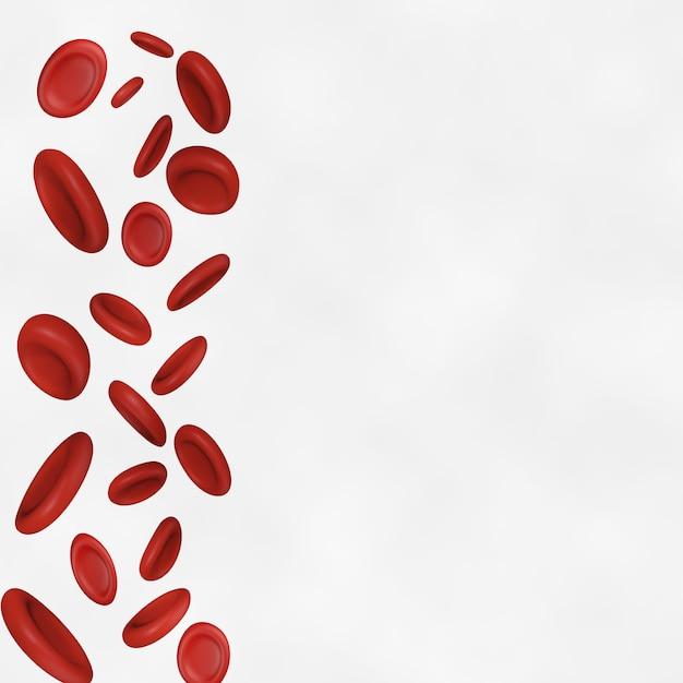 Fond de cellules sanguines Vecteur Premium