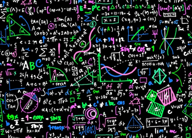Fond de cercle math mathématique linéaire éducation Vecteur Premium