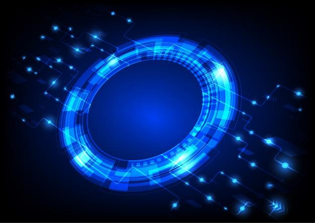 Fond de cercle numérique Vecteur Premium