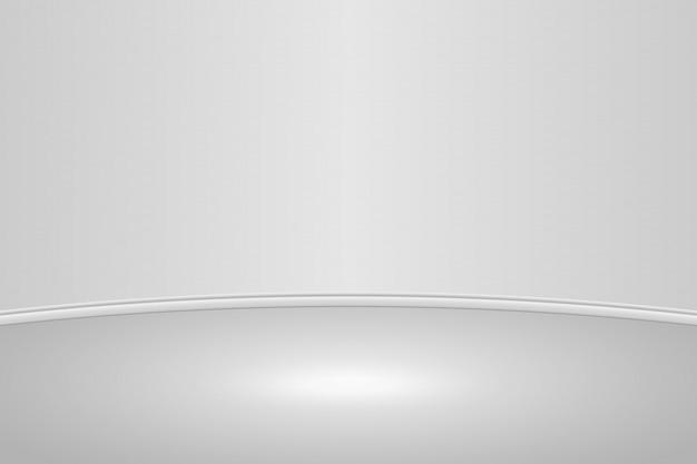 Fond de chambre studio vide blanc rond Vecteur Premium