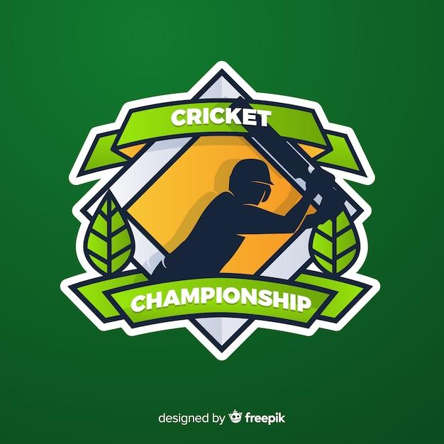 Fond de championnat de cricket créatif Vecteur gratuit