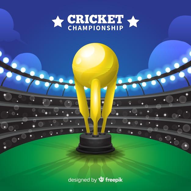 Fond de championnat de cricket Vecteur gratuit