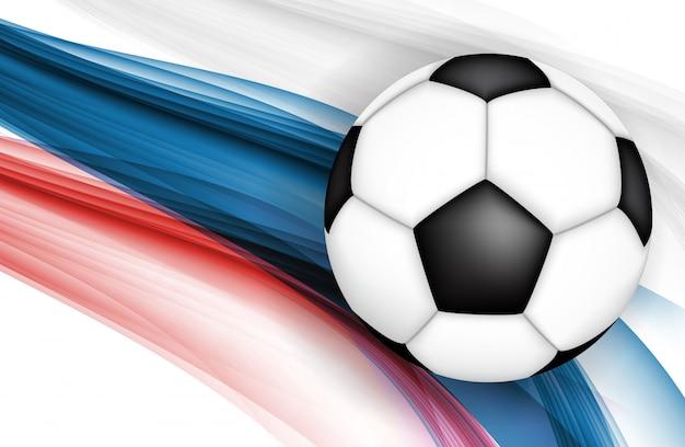 Fond de championnat de football Vecteur Premium