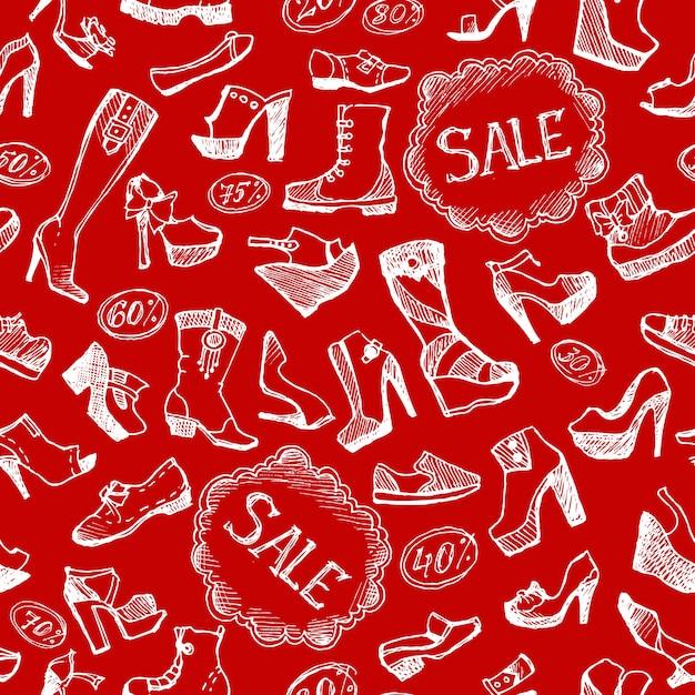 Fond De Chaussures Sans Soudure Vecteur gratuit
