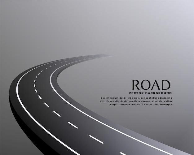 Fond De Chemin De Route De Perspective Incurvée Vecteur gratuit