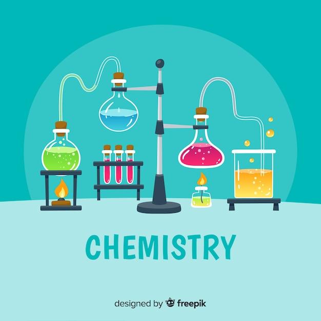 Fond de chimie dessiné à la main Vecteur gratuit