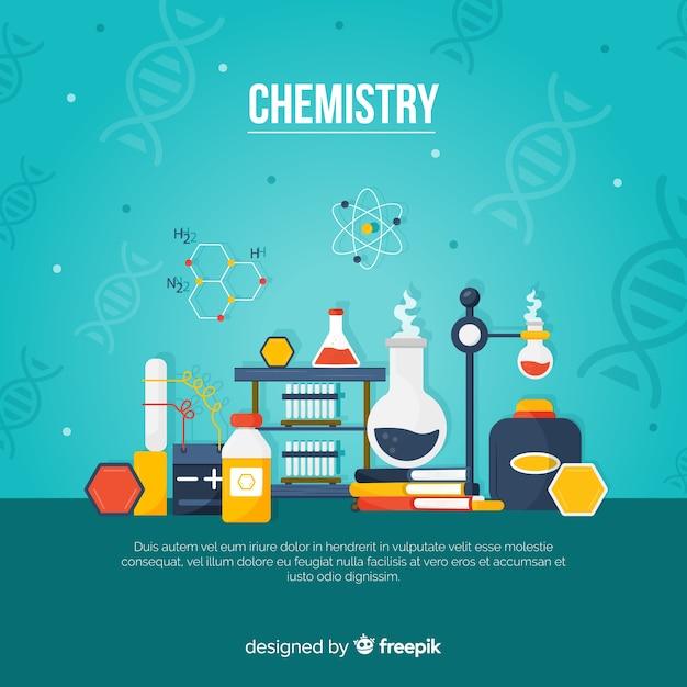 Fond de chimie Vecteur gratuit