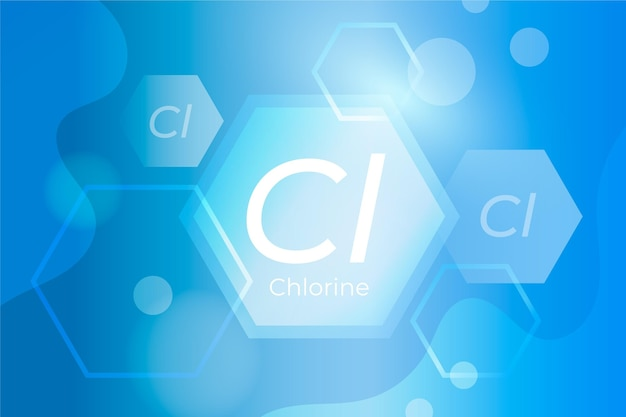 Fond De Chlore Avec Abréviation De Chlore Vecteur gratuit