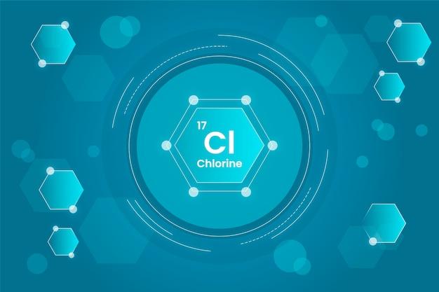 Fond De Chlore En Forme Circulaire Vecteur Premium