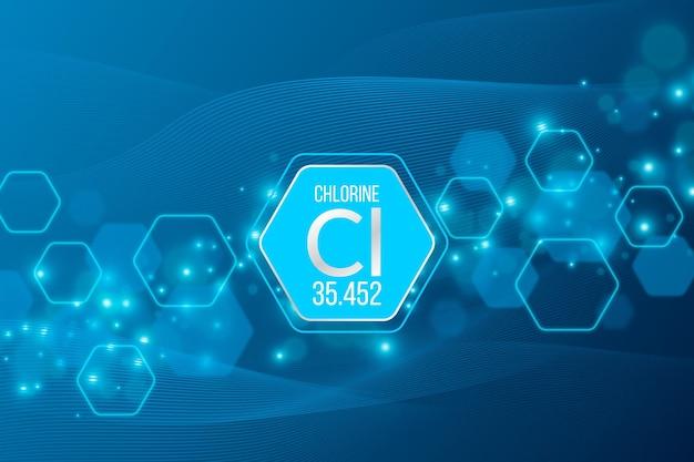 Fond De Chlore Vecteur Premium