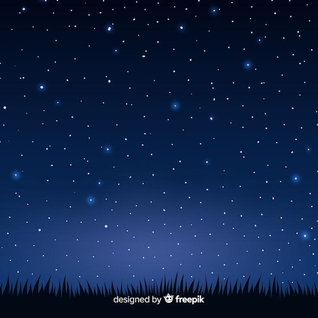 Fond de ciel de nuit Vecteur gratuit