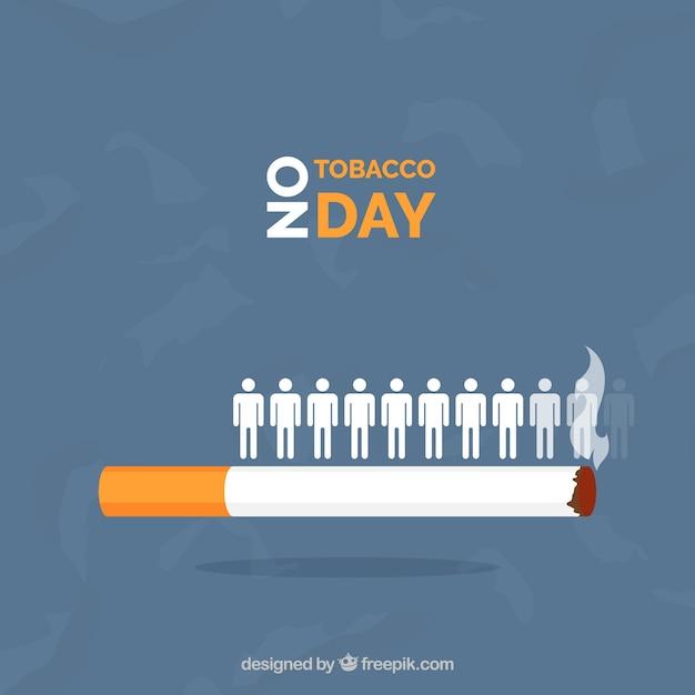 Fond de cigarette avec les gens Vecteur gratuit