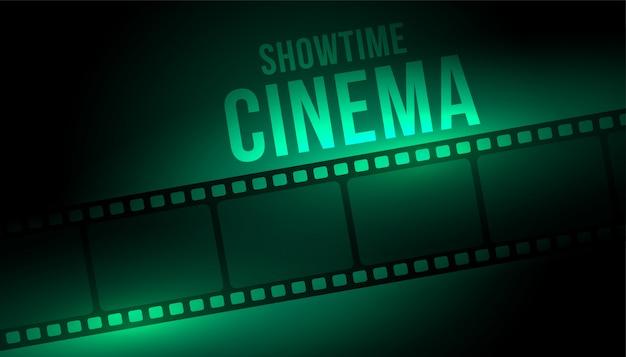 Fond De Cinéma Showtime Avec Bobine De Bande De Film Vecteur gratuit